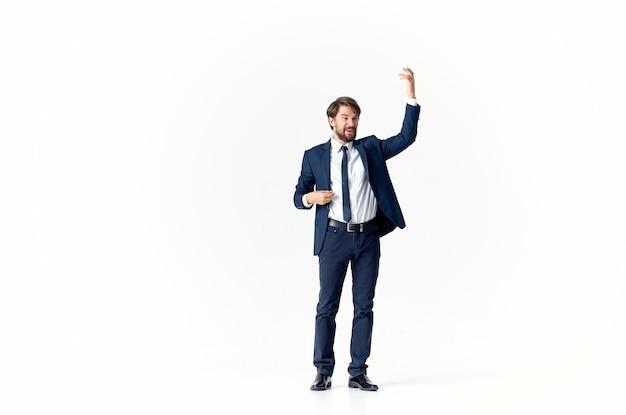 Klasyczny garnitur biznes finanse człowiek emocja model reklama