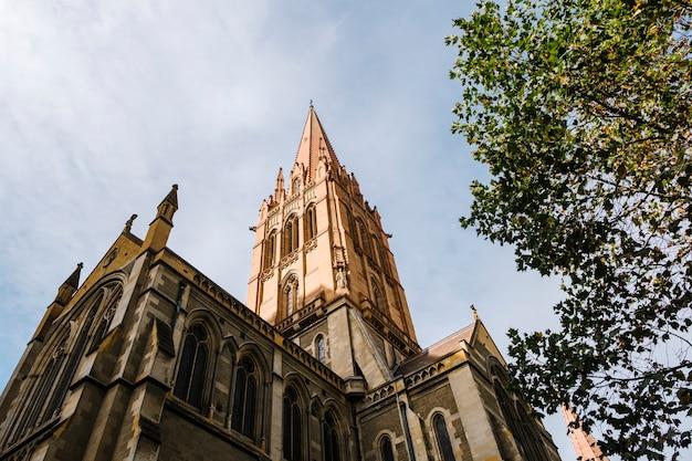 Klasyczny kościół św. pawła w melbourne