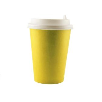 Klasyczny niebieski papierowy kubek do kawy z tobą. lekki.