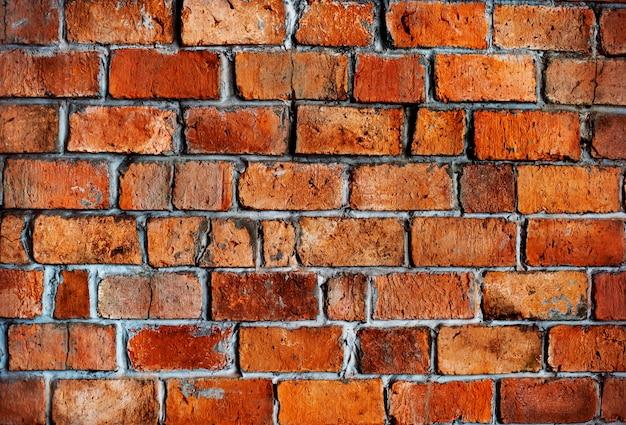 Klasyczny piękny teksturowane mur z cegły