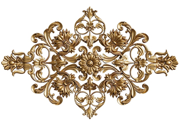 Klasyczny wystrój ornament na białym tle