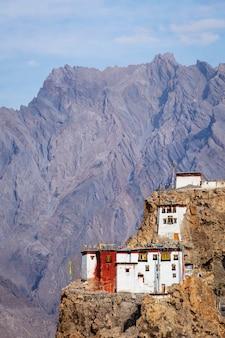 Klasztor dhankar gompa. himachal pradesh, indie