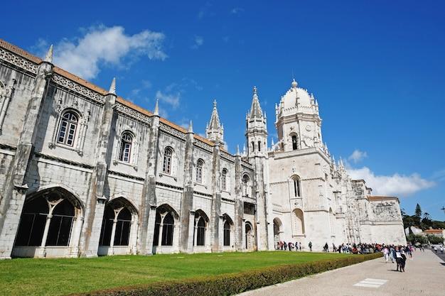 Klasztor hieronimitów lub klasztor hieronimitów w lizbonie w portugalii
