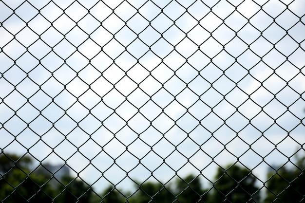 Klatka metalowa sieć w więzieniu