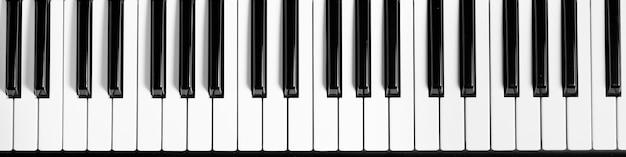 Klawiatura fortepianowa.