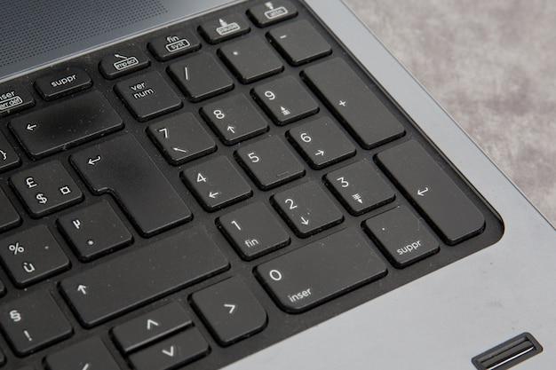 Klawiatura laptopa z bliska