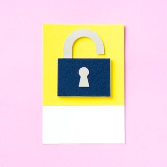 Kłódka z ikoną dziurka od klucza