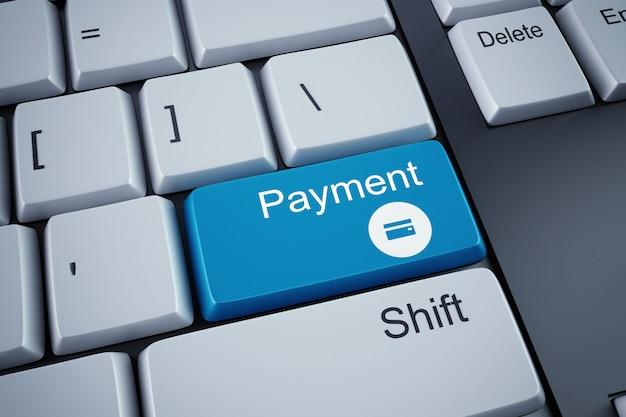 Klucz płatności na białej klawiaturze