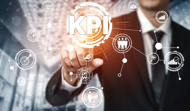 Kluczowy Wskaźnik Wydajności Kpi Dla Koncepcji Biznesowej Premium Zdjęcia