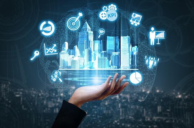 Kluczowy wskaźnik wydajności kpi dla koncepcji biznesowej