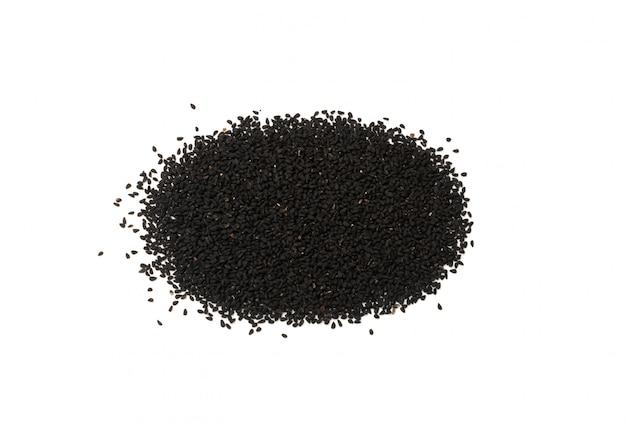 Kminek czarny lub kminek czarny na białym tle