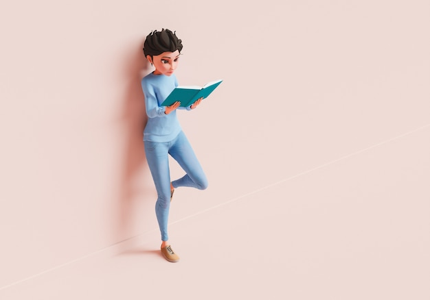 Kobieca postać czytająca książkę