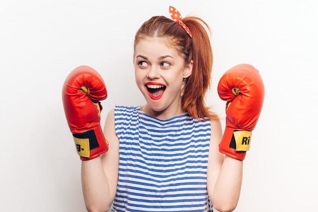 Kobiece rękawice bokserskie