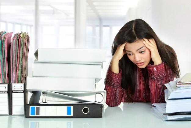 Kobieta biznesu stresu