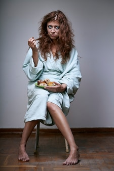 Kobieta cierpiąca na ciężką depresję