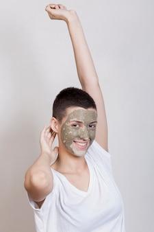 Kobieta dbanie o jej skórę