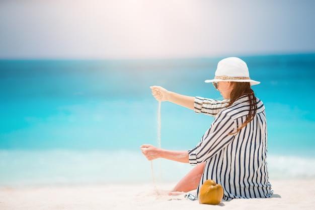 Kobieta korzystających z wakacji