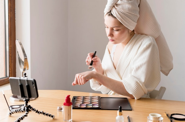 Kobieta makijaż