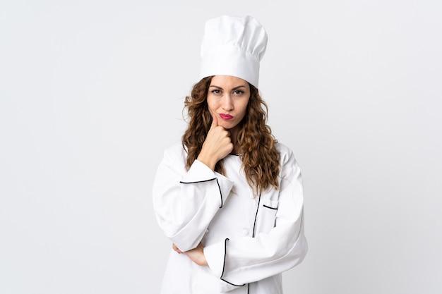 Kobieta młoda szefa kuchni