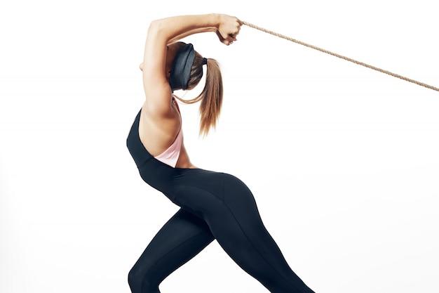 Kobieta piękne ciało sportowca