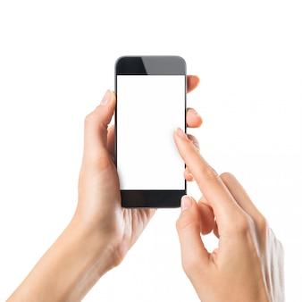 Kobieta pisania na telefon komórkowy