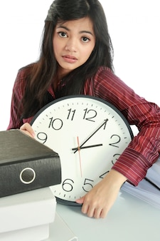 Kobieta stres w pracy