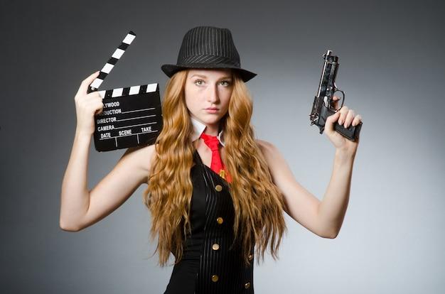 Kobieta w koncepcji vintage zdjęcie