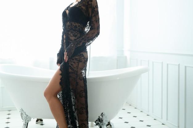 Kobieta w łazience