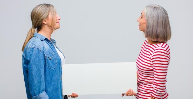 Kobieta w średnim wieku w widoku profilu