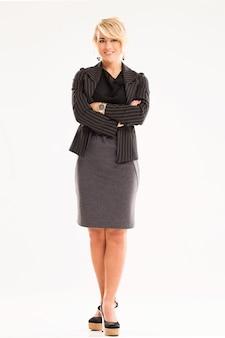 Kobieta w stroju biznesowym
