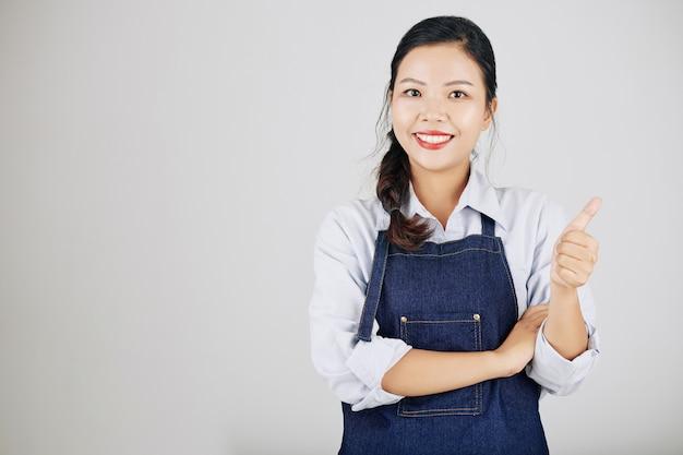 Kobieta właściciel małej firmy
