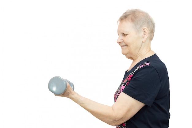 Kobieta zaangażowana w fitness