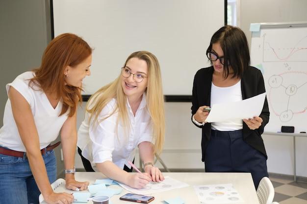Kobiety pracują w zespole budowanie zespołu