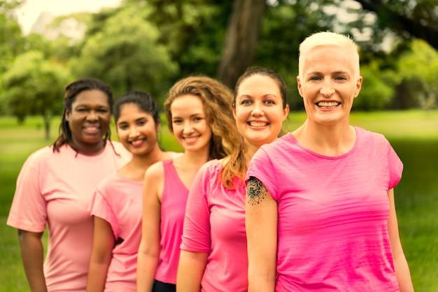 Kobiety walczące o świadomość raka piersi