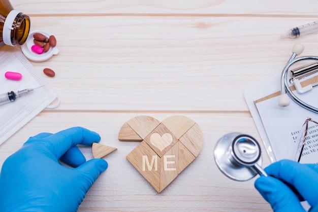 Kochaj i dbaj o siebie, a następnie sprawdź stan swojego ciała i serca u lekarza pod kątem dobrego samopoczucia.