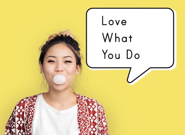 Kochaj to, co robisz bądź sobą motywacja inspiracja