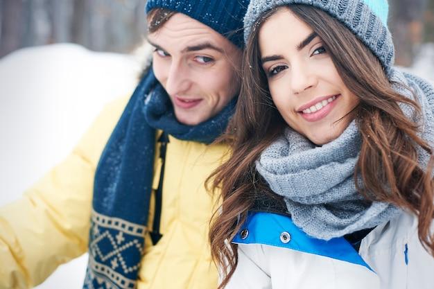 Kochając zimą mroźny czas