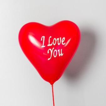 Kocham cię balon na walentynki