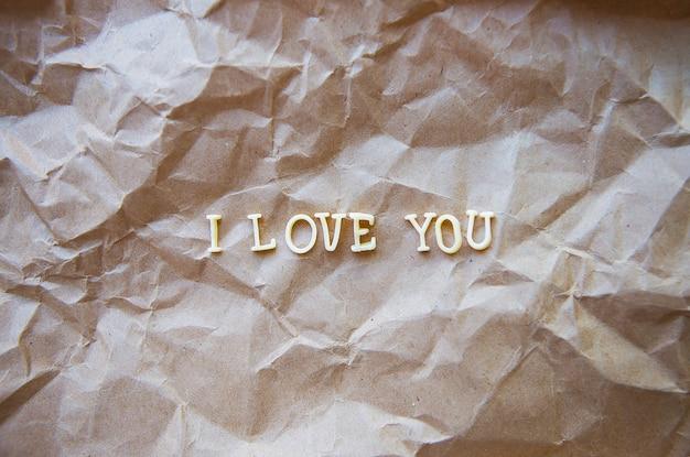 Kocham cię na papierze kraft