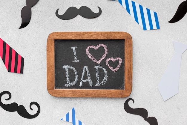 Kocham cię, tato, wiadomość