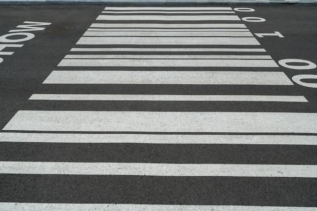 Kod kreskowy na autostradzie