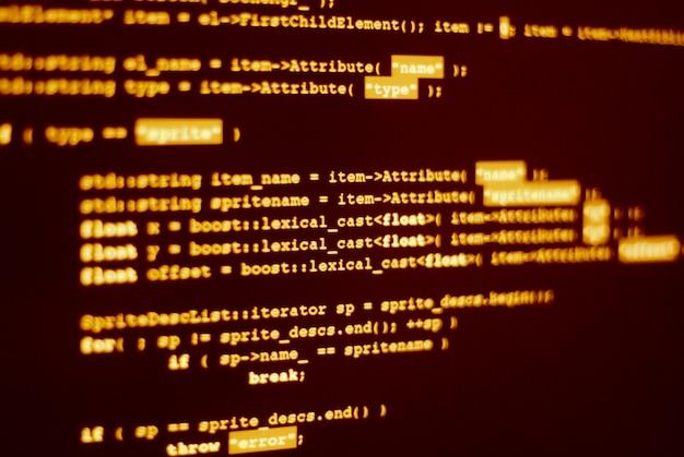 Kod programu komputerowego