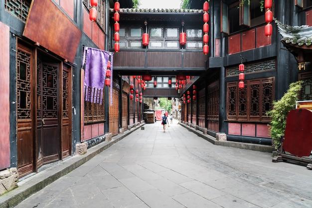 Koi ancient town w chengdu, chiny