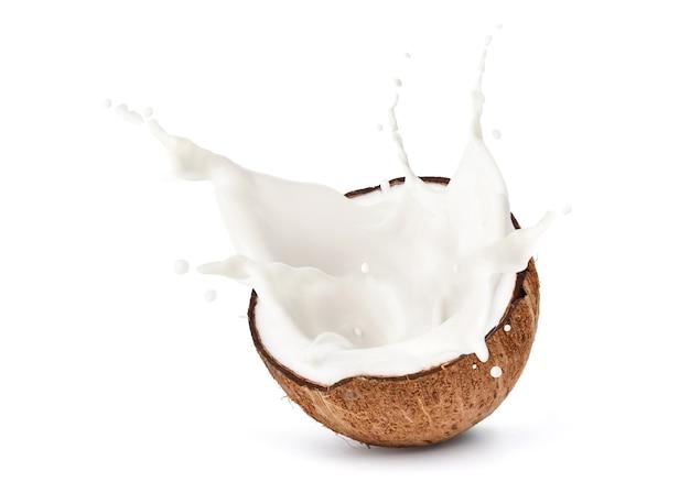 Kokos na białym tle na białym tle