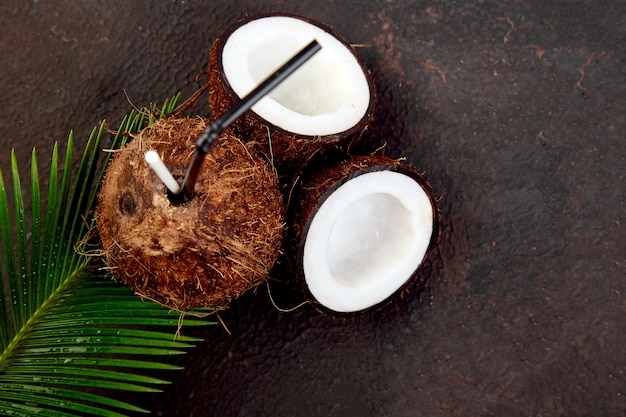 Kokosowy koktajl letni napój na drinka