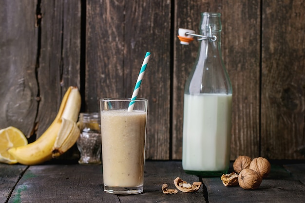 Koktajl mleczno-bananowy