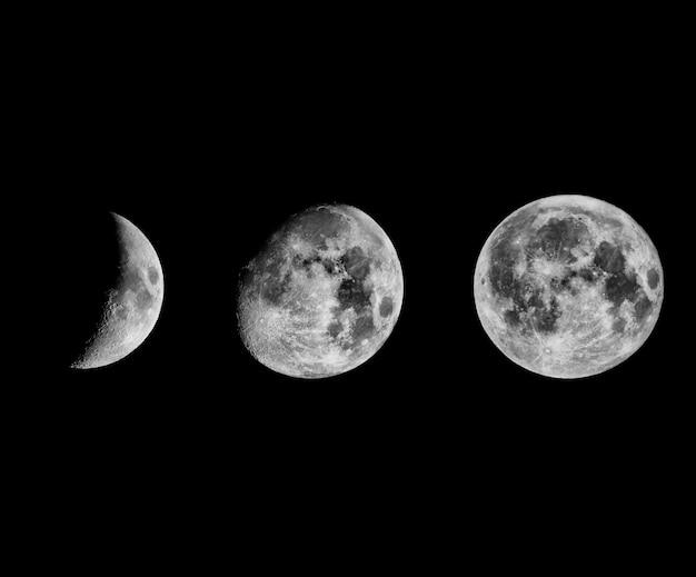 Kolaż faz księżyca