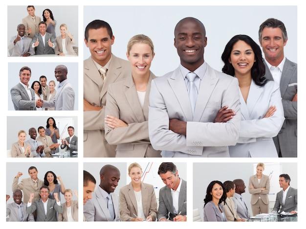 Kolaż przyjaznych ludzi biznesu