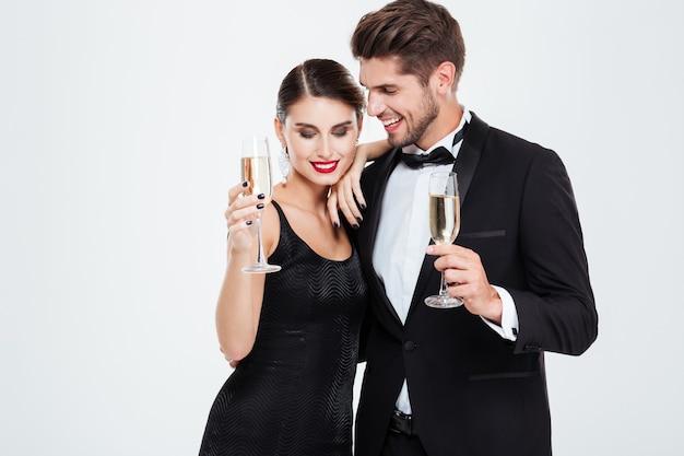 Koledzy biznesowi z szampanem