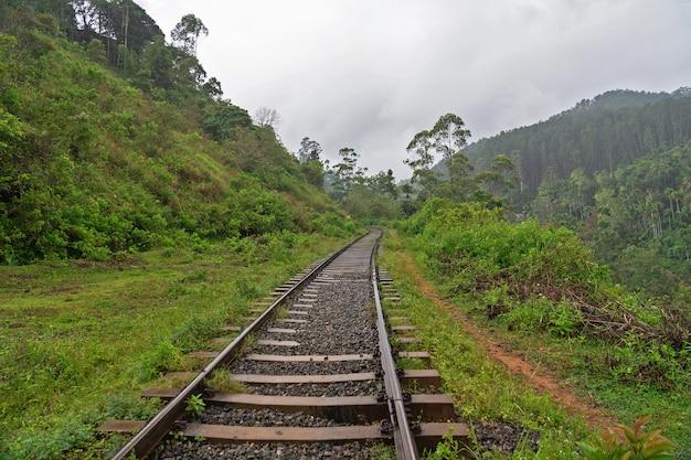 Kolej w górskim regionie sri lanki